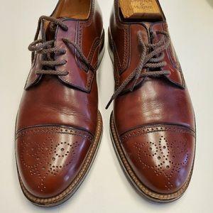 a. testoni Cap Toe Oxford Brown Dress Shoe Size 8